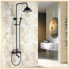 Retail - Luxury Brass Shower Set, Blackened Overhead Shower Set & Wall Mounted Rainfall Shower Set, Free Shipping L15881