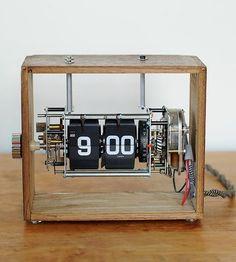 Vintage File Box Flip Clock by BoxtClox on Scoutmob Shoppe