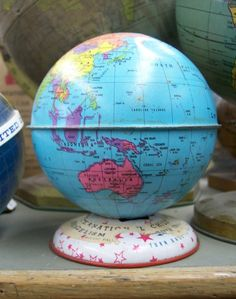 Globe Bank, Globe Maker: J. Chein & Co. (Published: J. Chein & Co.  c1955. Burlington, NJ)