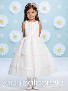 Joan Calabrese 116378 Flower Girls Organza over Lace Dress