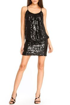 Issue NY Simone Sequin Blousy Dress In Black If you like the item in the photo you can find gently used brand name items like this at www.occasionallyblackandwhite.com. We sell gently used black and white items with brand names like Ann Taylor, Michael Kors, Evan Picone, Nine West. Please check it out.