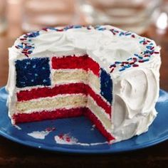 American Flag Cake Betty Crocker