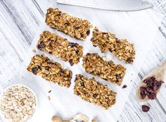 Chocolate Peanut Butter Protein Bombs are the perfect on-the-go snack that will leave you feeling fully satisfied with zero guilt! Healthy Granola Bars, Chewy Granola Bars, High Protein Snacks, Protein Foods, Healthy Protein, Sweet Recipes, Dog Food Recipes, Easy Recipes, Chicken Recipes
