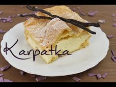 Karpatka recipe - polish puff pastry cake - with brandy and pudding cream - . - Delicious Meets Healthy: Quick and Healthy Wholesome Recipes Super Torte, Sweets Cake, Cake Cookies, Sweet Recipes, Deserts, Food Porn, Food And Drink, Snacks, Ethnic Recipes