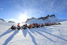 Snowmobiling on a glacier in Iceland -- one for the #BucketList!