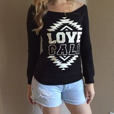 Love Cali Off The Shoulder Top Love Cali Off The Shoulder Top. Brand new. Never worn. Available in S-M-L. 95% rayon. 5% spandex. True to size. Model is wearing a small for reference. No Paypal. No trades. 10% discount on all bundles made with the bundle feature. No offers will be considered unless you use the make me an offer feature.     Please follow  Instagram: BossyJoc3y  Blog: www.bossyjocey.com Tops Tees - Long Sleeve