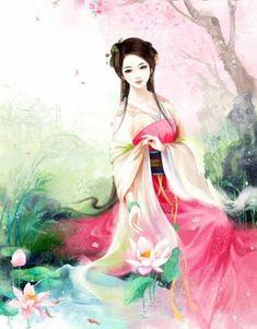 Beautiful Fantasy Art, Painting Of Girl, Fantasy Paintings, Korean Art, China Art, Creative Pictures, Hanfu, Anime Art Girl, Ancient Art