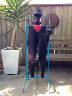 Wetsuit dry rack made with pvc  Manasquan HS Surf Team