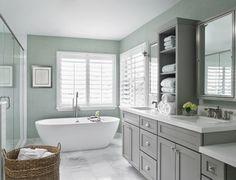 Gorgeous bathroom via House of Turquoise!