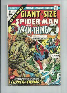 GIANT-SIZE SPIDER-MAN #5 Bronze Age! Featuring Man-Thing & Lizard! GRADE 9.2 http://r.ebay.com/KNS125