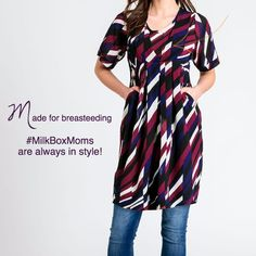 A nursing apparel subscription service for breastfeeding Moms who are looking for modern, cute and fashionable breastfeeding clothes. Breastfeeding style delivered to your door. Breastfeeding Fashion, Breastfeeding Clothes, Nursing Clothes, Shark Tank, Wrap Dress, Short Sleeve Dresses, Mom, My Style, Casual