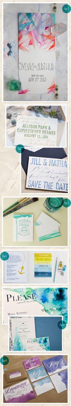 watercolor invites.