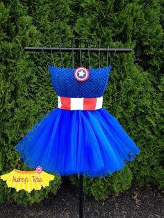Captain America Inspired tutu dress