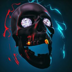 SkullBlingin #c4d #cinema4d #motiondesign #3d #artwork #visual #art #model #photo #photoshop #design #digital #digitalart #graphic #graphicdesign #octanerender #picture #octane by pixelpetes
