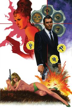 James Bond cover artwork for the Dynamite Entertainment comic book, illustrated by Joe Jusko jamesbond ianfleming joejusko dynamiteentertainment cover coverart Daniel Craig Bond Movies, Daniel Craig James Bond, Comic Book Artists, Comic Book Characters, Comic Books, James Bond Books, Jim Steranko, Berlin, The Lone Ranger