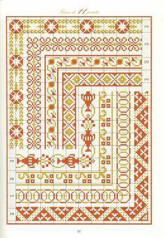 Cross Stitch Boarders, Cross Stitch Designs, Cross Stitching, Blackwork Embroidery, Cross Stitch Embroidery, Embroidery Patterns, Seed Bead Patterns, Cross Stitch Patterns, Norwegian Knitting