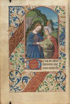 Catholic Church. Book of hours : use of Paris : manuscript, [ca. 1500].   MS Lat 17  Houghton Library, Harvard University