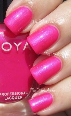 Zoya Lola~ the best summer color ever!  THIS WAS MINE AND MY GMA FAVORITE POLISH!! RIP GRANDMA ♡ BOUT TO FIND THIS COLOR TO BUY