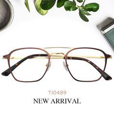 d99ee03eae3 Amina Aviator Brown Titanium Glasses TI0489-01