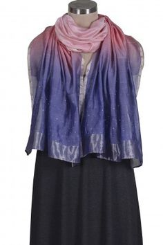Violet Ombre Badla Stole