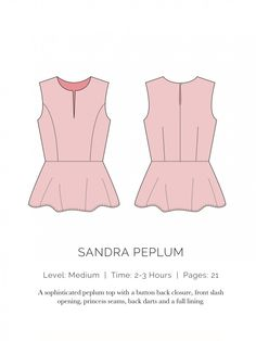 Sandra Peplum Flat - spitupandstilettpos site - all women's patterns free - Woohoo