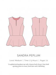 Sandra Peplum Flat - spitupandstilettpos site - all women's patterns free - Woohoo