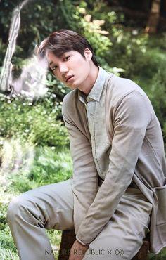 Kai exo x nature republic Exo Xiumin, Kpop Exo, Kaisoo, Exo Korean, Korean Boy, K Pop, Exo Nature Republic, Kim Kai, Rapper