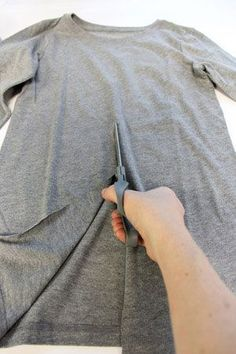 tutorial - how to resew two t-shirts into a fly-away cardigan.