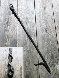 Hand Forged Fire Poker, wrought iron fireplace tool, outdoor fire pit, metal bbq and grill, blacksmith creation