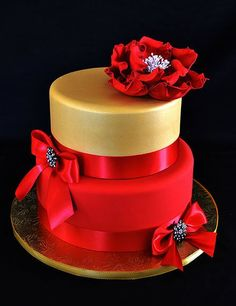 Red & Gold Cake