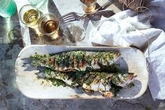 Find the recipe for Grilled Branzino with Cilantro-Mint Relish and other cilantro recipes at Epicurious.com