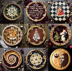 Pie crust designs to try. Holiday Baking, Christmas Baking, Beautiful Pie Crusts, Pie Crust Designs, Pie Decoration, Pies Art, Pie In The Sky, Pie Crust Recipes, Cupcakes