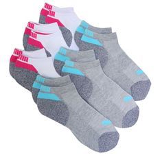 c9d55a578 Puma 6 Pack Women's Low Cut Socks (White/Grey/Assorted) 6 Pack