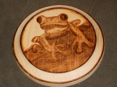 Wood burned art by Colleen Jess  Tree frog  http://www.facebook.com/pages/Great-Jesspectations/87931702513