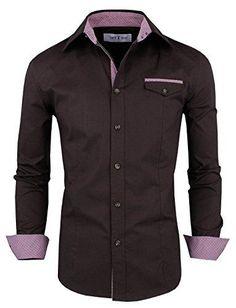 ede513938ae Tom s Ware Mens Premium Casual Inner Contrast Dress Shirt. Shirt SaleToms Fashion ...