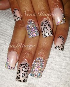 Cheetah nails | See more nail designs at http://www.nailsss.com/...
