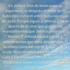 En JHWH puso su esperanza.