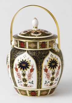 Royal Crown Derby Imari Biscuit Barrel