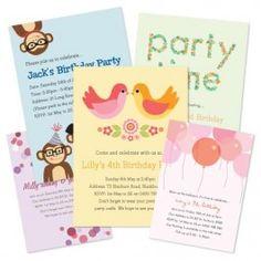Invitation possibilities; Confetti, Garden Party, Photo Bunting, Spots