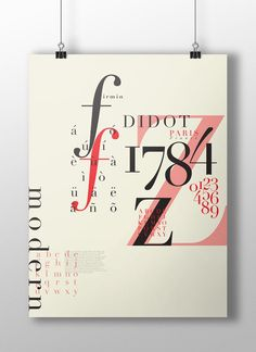 Didot Typographic Poster design by Lebe + Liebe