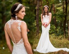 Sexy wedding dress open back wedding dress lace by AnnaSkoblikova