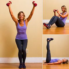Full-Body Circuit Workout With Weights - Why do we love circuit workouts? It's simple: they torch calories while building muscle. So we created this efficient full-body circuit that combines several exercises to work multiple body parts at once. And since you can easily do this workout in the comfort of your living room, it's excuse-proof, too. It takes about 20 minutes! All you need is a set of dumbbells between five and eight pounds. Even if you don't have weights, you can still give it a…