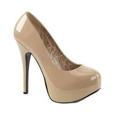 c1bc330a0e33 Pleaser Pink Label Women s Teeze 06W Platform Pump Cream Patent.  overstock.com. Pink HeelsBlack HeelsPatent HeelsYour ShoesSize ...