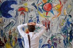 Artist Marc Chagall his work Marc Chagall, Artist Chagall, Chagall Paintings, Monet Paintings, Watercolor Paintings, Painting Art, Watercolor Artists, Abstract Paintings, Landscape Paintings