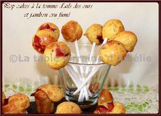 LA TABLE LORRAINE D'AMELIE: Pop cakes et mini muffins à la tomme à l'ail des ours et jambon de Forêt Noire