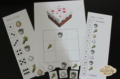 FREE Minecraft Printable Dice Game - 2 levels of play for PreK - 2nd Grade