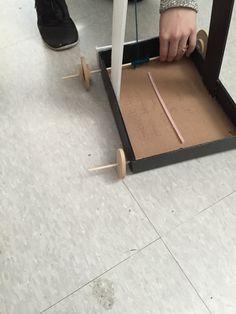 Nous avons ajouter des roues plus petit pour faire une inclinaison Ajouter, Science Projects, Mirror, Furniture, Home Decor, Wheels, Interior Design, Home Interior Design, Science Fair Projects