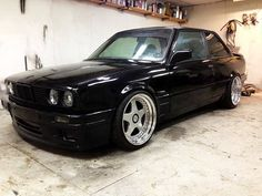 BMW E30 M3 black deep dish