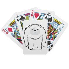 Pekingese Dog Cartoon Playing Cards