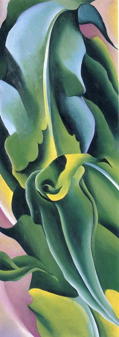 Artist Georgia O'Keeffe (1887 – 1986), American modernism, born in Sun Prairie, Wisconsin.  Corn No. 2